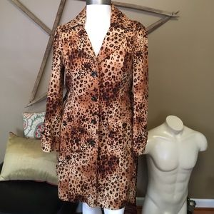 bandolino leopard cheetah animal print trench coat